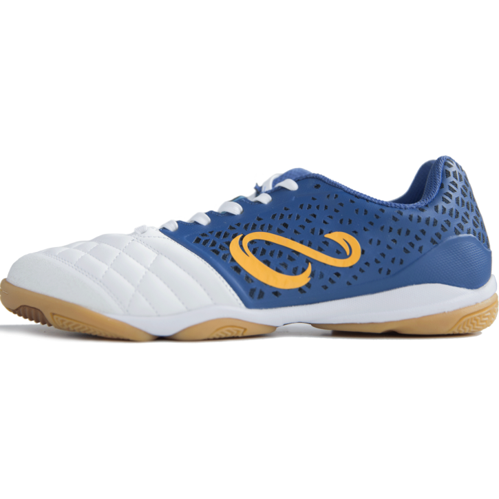 USHUAIA PRO Futsal Shoe - White/Navy/Orange